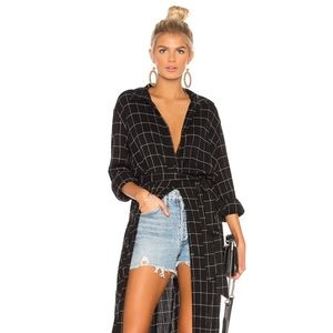Jess Maxi Shirt in Window Pane | REVOLVE